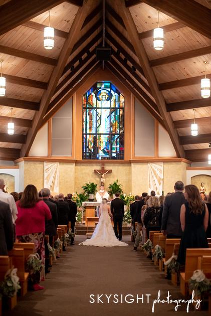 Pittsburgh church wedding photo